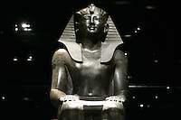 La statua del Re Thutmosi III nel Museo Egizio di Torino.<br /> The statue of the King Thutmose III in the Egyptian Museum of Turin.<br /> UPDATE IMAGES PRESS/Riccardo De Luca