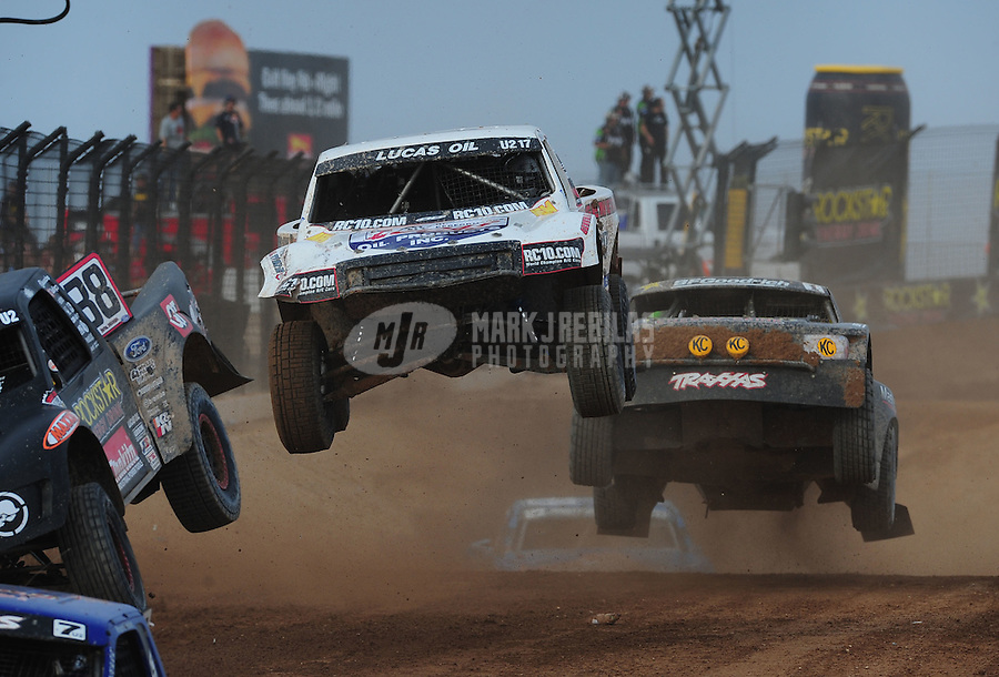 Mar. 19, 2011; Chandler, AZ, USA;  LOORRS pro two driver Carl Renezeder during round one at Firebird International Raceway. Mandatory Credit: Mark J. Rebilas-US PRESSWIRE