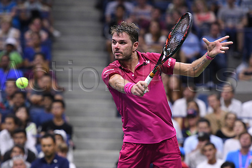 07.09.2016. Flushing Meadows, New York, USA. Mens singles quarterfinal match, Stan Wawrinka (sui) versus Juan Martin Del Potro (ARG).  Stan Wawrinka (SUI) as he won in 4 sets