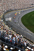 DAYTONA BEACH, FL - FEBRUARY 20: Dale Earnhardt leads a group of cars during the Daytona 500 on February 20, 1994, at the Daytona International Speedway in Daytona Beach, Florida.