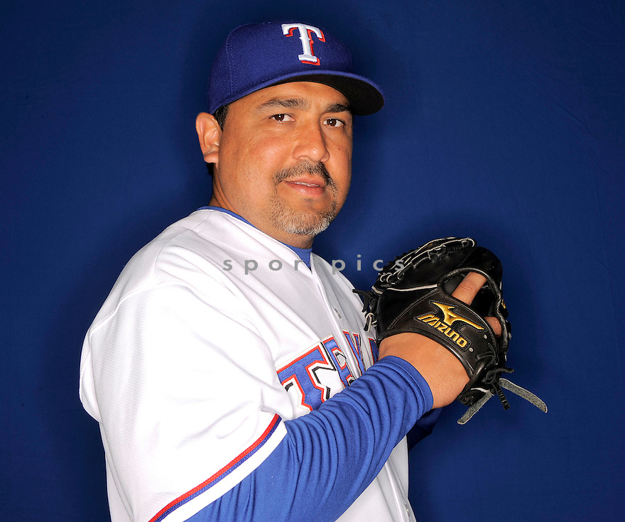EDDIE GUARDADO, of the Texas Rangers, during photo day of spring training and the Ranger's training camp in Surprise, Arizona on February 24, 2009.