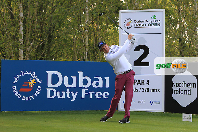 Mikko Illonen (FIN) on the 2nd tee during Wednesday's Pro-Am round of the Dubai Duty Free Irish Open presented  by the Rory Foundation at The K Club, Straffan, Co. Kildare<br /> Picture: Golffile | Thos Caffrey<br /> <br /> All photo usage must carry mandatory copyright credit <br /> (&copy; Golffile | Thos Caffrey)