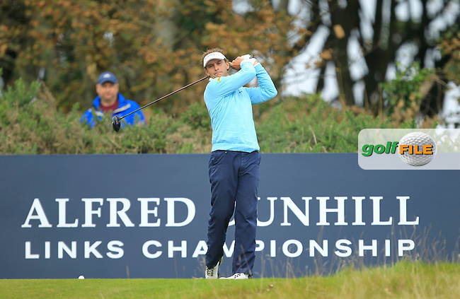 Joost Luiten  (NED) during Round 2 of the Alfred Dunhill Links Championship at Kingsbarns Golf Club on Friday 27th September 2013.<br /> Picture:  Thos Caffrey / www.golffile.ie