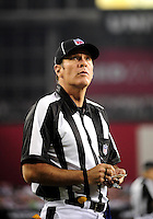 Dec 6, 2009; Glendale, AZ, USA; NFL referee Scott Edwards during the game between the Arizona Cardinals against the Minnesota Vikings at University of Phoenix Stadium. The Cardinals defeated the Vikings 30-17. Mandatory Credit: Mark J. Rebilas-
