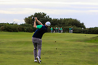 Ronan Mullarney from Ireland at the 17th fairway during Round 2 Singles of the Men's Home Internationals 2018 at Conwy Golf Club, Conwy, Wales on Thursday 13th September 2018.<br /> Picture: Thos Caffrey / Golffile<br /> <br /> All photo usage must carry mandatory copyright credit (&copy; Golffile | Thos Caffrey)