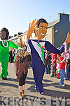 Barack Obamba in the Castleisland parade on Tuesday