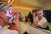 Chinese Dancers, applying make up, Asian American Arts Alliance Group, Mount Holly, New Jersey