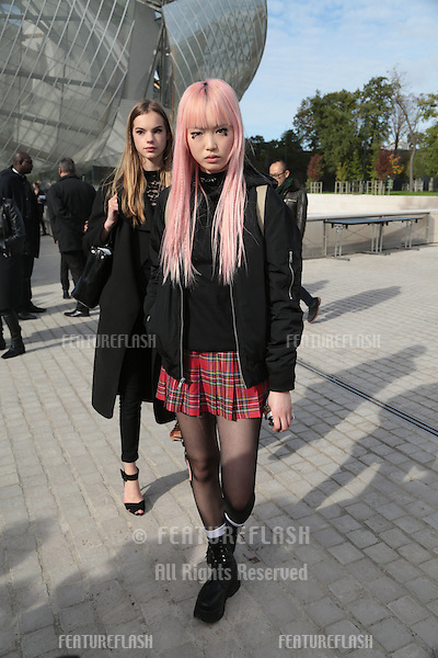 Unknown guests attend Louis Vuitton Show Front Row - Paris Fashion Week  2016.<br /> October 7, 2015 Paris, France<br /> Picture: Kristina Afanasyeva / Featureflash