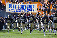 Pitt takes the field. The Louisville Cardinals defeated the Pitt Panthers 45-35 at Heinz Field, Pittsburgh PA on October 13, 2012.