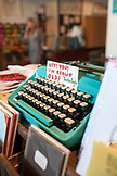 CALIFORNIA, Los Angeles, Downtown, old typewriter in Antique store