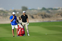 Joakim Lagergren (SWE) during the first round of the NBO Open played at Al Mouj Golf, Muscat, Sultanate of Oman. <br /> 15/02/2018.<br /> Picture: Golffile | Phil Inglis<br /> <br /> <br /> All photo usage must carry mandatory copyright credit (&copy; Golffile | Phil Inglis)