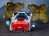 Feb 24, 2018; Chandler, AZ, USA; NHRA funny car driver Courtney Force during qualifying for the Arizona Nationals at Wild Horse Pass Motorsports Park. Mandatory Credit: Mark J. Rebilas-USA TODAY Sports