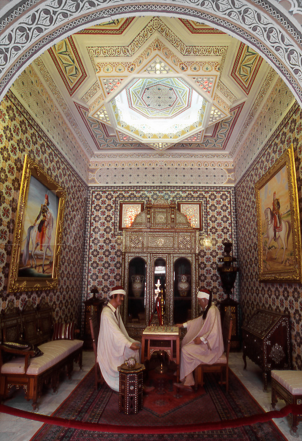 Tunisia. North Africa. Inside the Dar Charait Musuem. Tozeur.