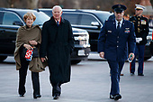 Former Secretary of State James Baker arrives at the US Capitol prior to the service for former President George H. W. Bush in Washington, DC, USA, 03 December 2018. Bush will lie in state in the Capitol Rotunda before his state funeral at the Washington National Cathedral 05 December. George H.W. Bush, the 41st President of the United States (1989-1993), died at the age of 94 on 30 November 2018 at his home in Texas.