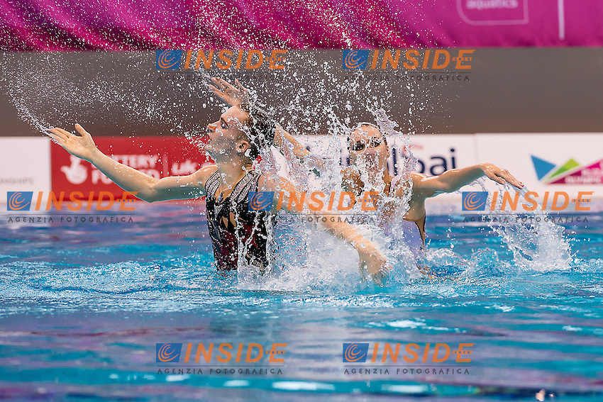 MALTSEV Aleksandr  KALANCHA Mikhaela RUS<br /> London, Queen Elizabeth II Olympic Park Pool <br /> LEN 2016 European Aquatics Elite Championships <br /> Mixed duet free<br /> Day 03 11-05-2016<br /> Photo Giorgio Scala/Deepbluemedia/Insidefoto