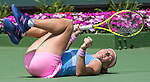 March 31 2016: Svetlana Kuznetsova (RUS) takes a spill while working to defeat Timea Bacsinszky (SUI) by 7-5, 6-3 at the Miami Open being played at Crandon Park Tennis Center in Miami, Key Biscayne, Florida. ©Karla Kinne/Tennisclix/Cal Sports Media