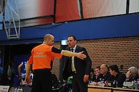 BASKETBAL: LEEUWARDEN: Kalverdijkje, 19-01-2013, Aris Leeuwarden-Leiden, Eindstand: 72-93, Erik Braal (coach Aris Leeuwarden), ©foto Martin de Jong