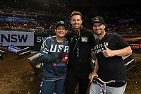 Ricky Carmichael / Adam Bailey / Chad Reed<br /> Monster Energy Aus-XOpen<br /> Supercross &amp; FMX International<br /> Qudos Bank Arena, Olympic Park NSW<br /> Sydney AUS Sunday 12  November 2017. <br /> &copy; Sport the library / Jeff Crow