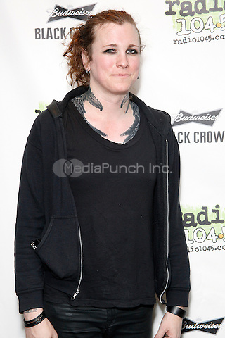 BALA CYNWYD, PA - MAY 6 :  Laura Jane Grace born Thomas James Gabel of Against Me! pictured solo at Radio 104.5 performance theater in Bala Cynwyd, Pa on May 6, 2014 photo credit Star Shooter / MediaPunch