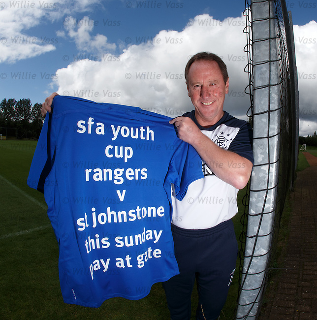 Jimmy Sinclair promotes the Rangers v St Johnstone youth cup match on Sunday at Ibrox