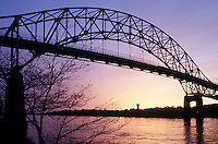 Bourne Bridge over Cape Cod Canal, Bourne, MA