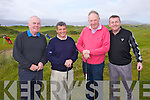 Waterville golfers pictured l-r; Ted Foley, Noel O'Sullivan, Tom Murphy & David Farrell get some practice for the Chaplin Am-Am the final Major of the Season.