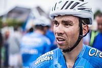 Sean De Bie (BEL/Veranda's Willems Crelan) after finishing 3th place. <br /> <br /> 71th Halle Ingooigem 2018 (1.1)<br /> 1 Day Race: Halle &gt; Ingooigem (197.7km)