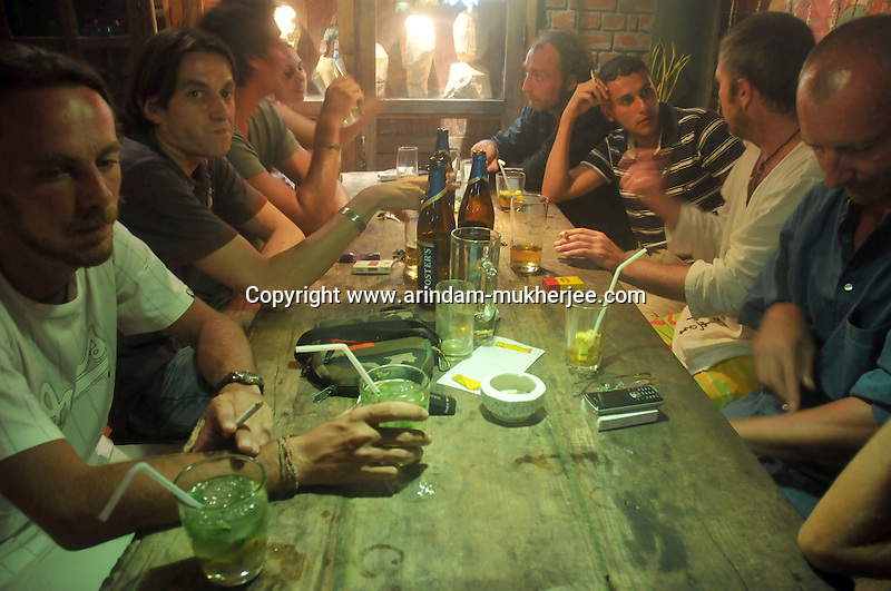 Le Space a favourite bar among the French tourists and residents in Pondicherry.Arindam Mukherjee/Sipa