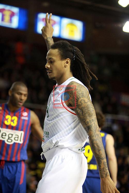 Euroleague Basketball 2012/13 Top 16 Round 6.<br /> FC Barcelona Regal vs Montepaschi Siena: 85-66.<br /> David Moss.