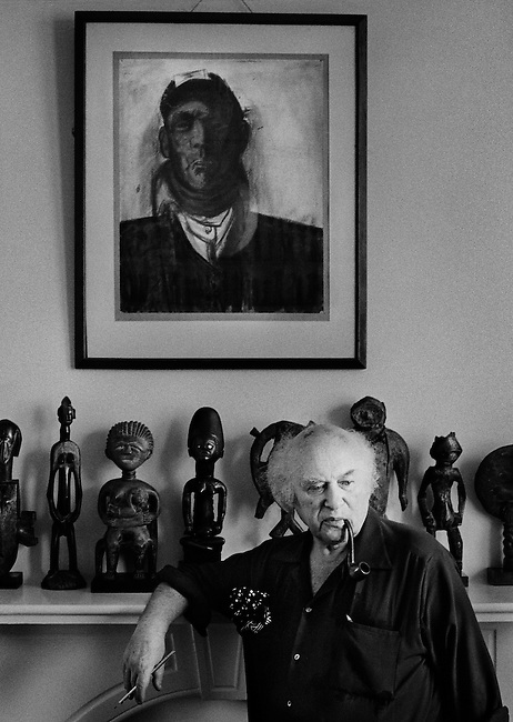 Josef Herman at home, London.<br />