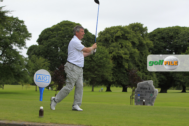 Jack Ruane (Enniscrone) on the 1st tee during the AIG Connacht Pierce Purcell Shield Semi-Finals of the AIG Connacht Cups &amp; Shields Finals 2016 at Ballinrobe Golf Club, Ballinrobe Co. Mayo on Saturday 6th August 2016.<br /> Picture:  Golffile | Thos Caffrey<br /> <br /> All photos usage must carry mandatory copyright credit   (&copy; Golffile | Thos Caffrey)