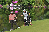 Pat Perez (USA) discusses hitting his drive on 17 out of the water for his second shot or taking a drop during round 3 of the World Golf Championships, Mexico, Club De Golf Chapultepec, Mexico City, Mexico. 3/3/2018.<br /> Picture: Golffile | Ken Murray<br /> <br /> <br /> All photo usage must carry mandatory copyright credit (&copy; Golffile | Ken Murray)
