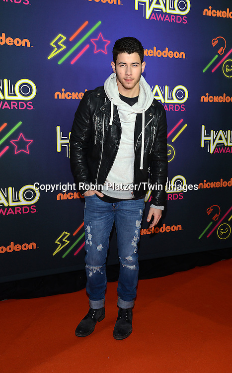 Nick Jonas attends the 6th Annual Nickelodeon Halo Awards on November 15, 2014 at Pier 36 in New York City. <br /> <br /> photo by Robin Platzer/Twin Images<br />  <br /> phone number 212-935-0770