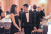 Governor Bobby Jindal of Louisiana and his wife Supriya Jindal attend the National Governors Association 2013 Black-tie Dinner in the State Dining Room of the White House in Washington, D.C., February 24, 2013. .Credit: Olivier Douliery / Pool via CNP