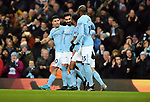Ilkay Gundogan of Manchester City celebrates scoring the opening goal of the game during the premier league match at the Etihad Stadium, Manchester. Picture date 16th December 2017. Picture credit should read: Robin ParkerSportimage