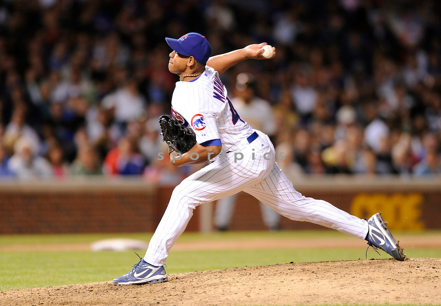 CARLOS MARMOL,  of the Chicago Cubs,  in action  during the Cubs  game against the Pittsburgh Pirates in Chicago, Illinois on June 29, 2010. The Chicago Cubs beat the Pirates 3-1..