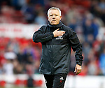 Chris Wilder manager of Sheffield Utd during the Championship match at the City Ground Stadium, Nottingham. Picture date 30th September 2017. Picture credit should read: Simon Bellis/Sportimage