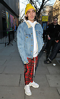 Hector Bellerin at the LFW (Men's) a/w2018 Chistopher Raeburn catwalk show, BFC Show Space, The Store Studios, The Strand, London, England, UK, on Sunday 07 January 2018.<br /> CAP/CAN<br /> &copy;CAN/Capital Pictures