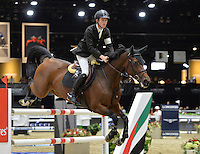 Scott Brash (Great Britain), riding Hello Annie at the Gucci Gold Cup International Jumping competition at the 2015 Longines Masters Los Angeles at the L.A. Convention Centre.<br /> October 3, 2015  Los Angeles, CA<br /> Picture: Paul Smith / Featureflash