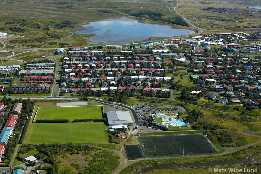 Selás, Fylkir, Árbæjarsundlaug,Rauðavatn, Reykjavík /.Selas, Fylkir, Atbaejarsundlaug swimming pool, lake Raudavatn, Reykjavik.
