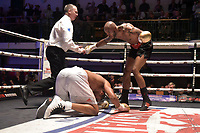 Duane Sinclair (black shorts) defeats Dominic Felix during a Boxing Show at York Hall on 8th September 2018