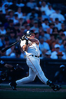 SAN FRANCISCO, CA - J.T. Snow of the San Francisco Giants bats during a play off game against the New York Mets at Pacific Bell Park in San Francisco, California in 2000. Photo by Brad Mangin