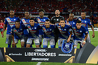 MEDELLIN - COLOMBIA: 16 - 05 - 2017: Los Jugadores de Emelec, posan para una foto, durante partido de la fase de grupos, grupo 3, fecha 5 entre Deportivo Independiente Medellin de Colombia y Emelec de Ecuador por la Copa  Conmebol Libertadores Bridgestone 2017 en el Estadio Atanasio Girardot, de la ciudad de Medellin. / The players of Emelec, pose for a photo during a match for the group stage, group 3 of the date 5th, between Deportivo Independiente Medellin of Colombia and Emelec of Ecuador for the Conmebol Libertadores Bridgestone Cup 2017, at the Atanasio Girardot, Stadium, in Medellin city. Photos: VizzorImage / Leon Monsalve / Cont.