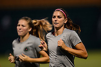 Portland Thorns forward Alex Morgan (13) during warmups prior to playing the Western New York Flash during the National Women's Soccer League (NWSL) finals at Sahlen's Stadium in Rochester, NY, on August 31, 2013.