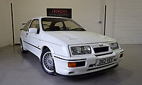 BNPS.co.uk (01202 558833)<br /> Pic: PPMMiltonKeynes/BNPS<br /> <br /> 001 - This first pre-production prototype of the Ford Sierra Cosworth RS500 comes with a hefty price tag. <br /> <br /> A pre-production prototype of the legendary Ford Sierra Cosworth RS500 has emerged for sale for a whopping £120,000.<br /> <br /> The RS500 was the road going version of Ford's iconic rally car with only 500 built in order to meet racing regulations.<br /> <br /> This one was the very first to be built in 1987 and in more recent times was road tested by Richard Hammond on the Grand Tour.