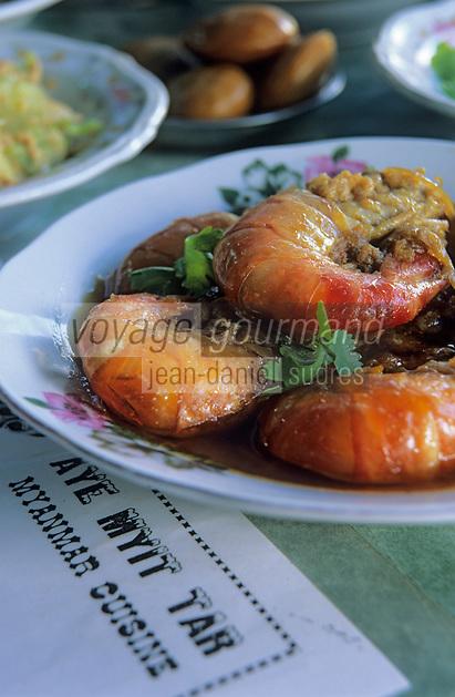 """Asie/Birmanie/Myanmar/Haute Birmanie/Mandalay: """"Birman Aye Myit Tar"""" - Curry de crevettes"""