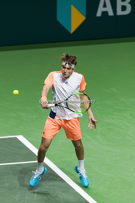 ABN AMRO World Tennis Tournament, Rotterdam, The Netherlands, 14 februari, 2017, Stefanos Tsitsipas (GRE)<br /> Photo: Henk Koster