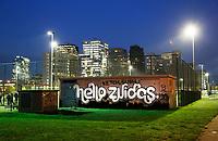 Nederland Amsterdam 2017 . Hello Zuidas. Graffity op de Zuidas. Foto Berlinda van Dam / Hollandse Hoogte