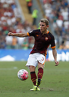 Calcio, Serie A: Roma vs Juventus. Roma, stadio Olimpico, 30 agosto 2015.<br /> Roma&rsquo;s Lucas Digne in action during the Italian Serie A football match between Roma and Juventus at Rome's Olympic stadium, 30 August 2015.<br /> UPDATE IMAGES PRESS/Isabella Bonotto
