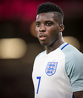 Sheyi 'Oluwaseyi' Ojo (Fulham (on loan from Liverpool) of England U21 during the UEFA EURO U-21 First qualifying round International match between England 21 and Latvia U21 at the Goldsands Stadium, Bournemouth, England on 5 September 2017. Photo by Andy Rowland.